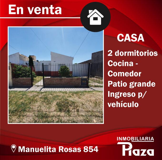 EN VENTA CASA MANUELITA ROSAS 854